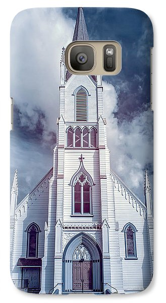 Galaxy Case featuring the photograph Ferndale Church In Infrared by Greg Nyquist