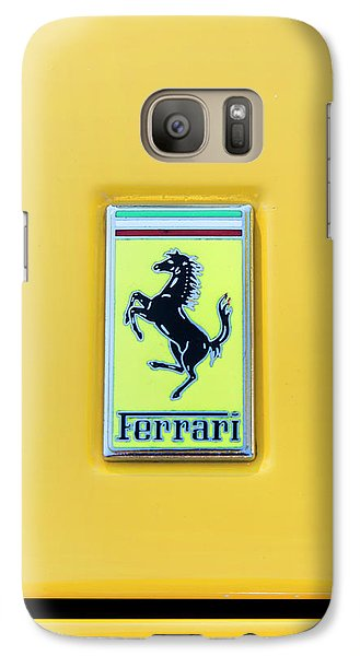 Galaxy Case featuring the photograph Ferrari Badge by Theresa Tahara