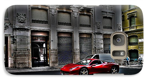Ferrari In Rome Galaxy S7 Case by Effezetaphoto Fz