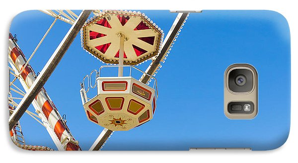 Galaxy Case featuring the photograph Ferris Wheel Cars In Toulouse by Semmick Photo