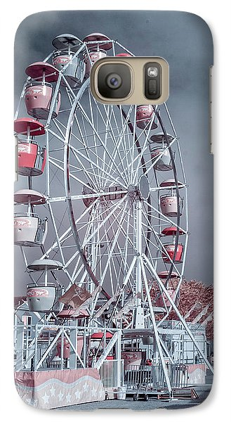 Galaxy Case featuring the photograph Ferris Wheel In Morning by Greg Nyquist