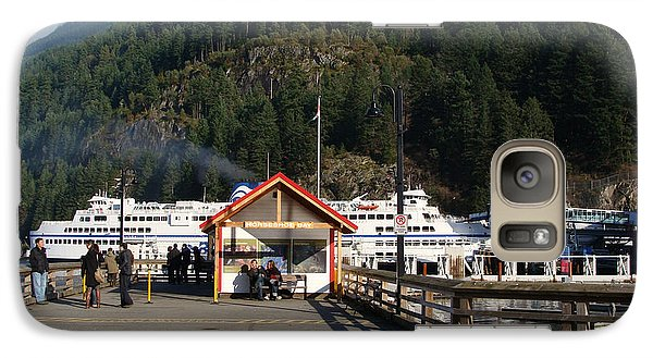 Galaxy Case featuring the painting Ferry Landed At Horseshoe Bay by Rod Jellison