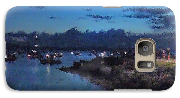 Galaxy Case featuring the photograph Festival Night Land And Shore by Felipe Adan Lerma