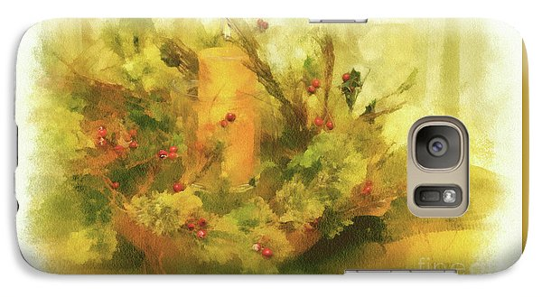 Galaxy Case featuring the photograph Festive Holiday Candle by Lois Bryan