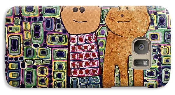 Galaxy Case featuring the painting Fetch.. You Fetch by Donna Howard