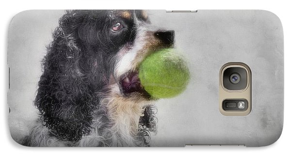 Galaxy Case featuring the photograph Fetching Cocker Spaniel  by Benanne Stiens