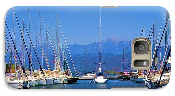Galaxy Case featuring the digital art Fethiye Harbour by Rob Tullis