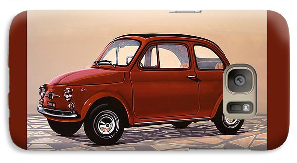 Beetle Galaxy S7 Case - Fiat 500 1957 Painting by Paul Meijering