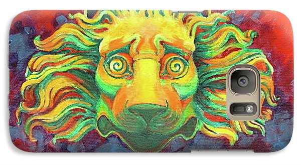 Galaxy Case featuring the painting Fidardo's Lion by Andrew Danielsen