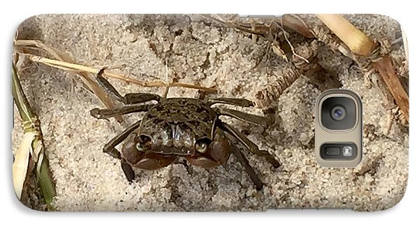Galaxy Case featuring the photograph Fiddler Crab by Janice Spivey