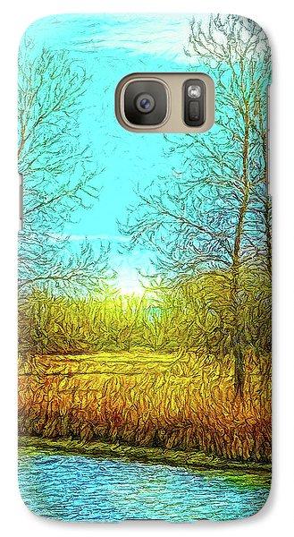 Field In Morning Light Galaxy S7 Case