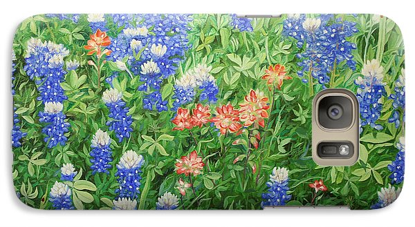 Galaxy Case featuring the painting Field Of Blue by Mike Ivey