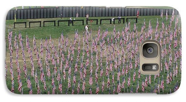 Galaxy Case featuring the digital art Field Of Flags - Gotg Arial by Gary Baird