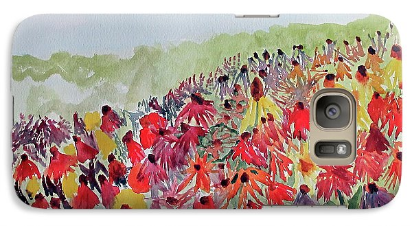 Galaxy Case featuring the painting Field Of Flowers by Sandy McIntire