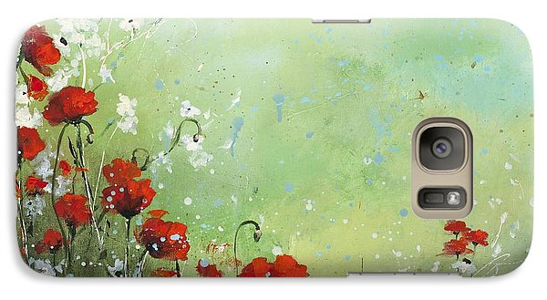 Galaxy Case featuring the painting Field Of Imagination by Laura Lee Zanghetti