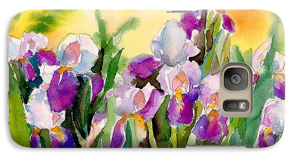 Galaxy Case featuring the painting Field Of Irises by Yolanda Koh