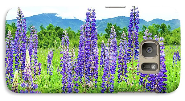 Galaxy Case featuring the photograph Field Of Purple by Greg Fortier