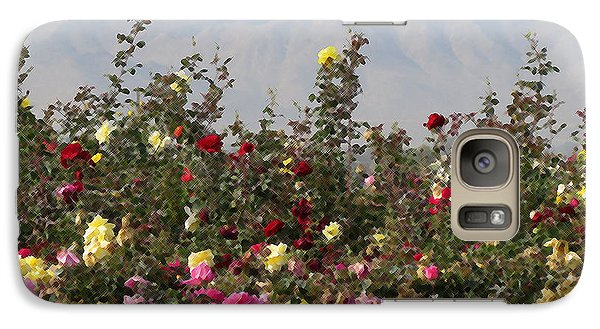 Galaxy Case featuring the photograph Field Of Roses by Laurel Powell