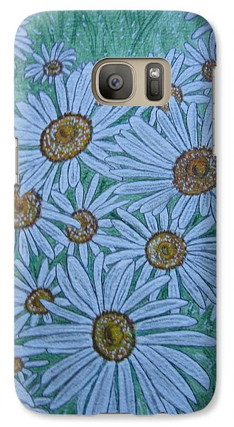 Galaxy Case featuring the painting Field Of Wild Daisies by Kathy Marrs Chandler