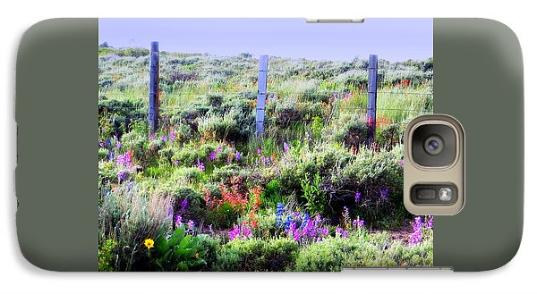 Galaxy S7 Case featuring the photograph Field Of Wildflowers by Karen Shackles