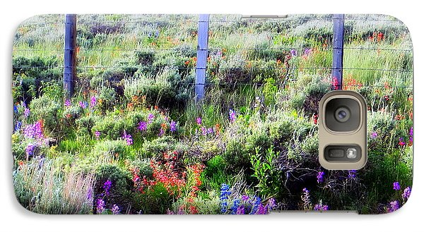 Field Of Wildflowers Galaxy S7 Case by Karen Shackles