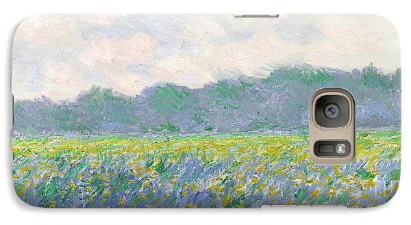 Landscape Galaxy S7 Case - Field Of Yellow Irises At Giverny by Claude Monet
