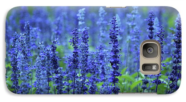 Galaxy Case featuring the photograph Fields Of Blue by Rowana Ray