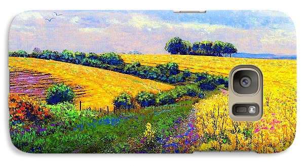 Galaxy Case featuring the painting Fields Of Gold by Jane Small