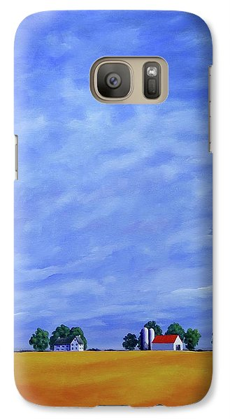 Galaxy Case featuring the painting Fields Of Gold by Jo Appleby