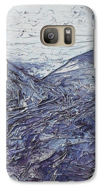 Galaxy Case featuring the mixed media Fields Of Lavender by Angela Stout