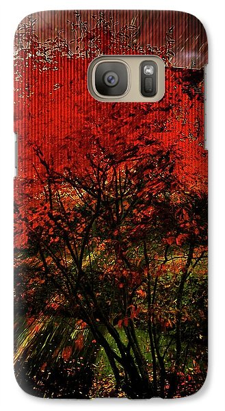 Galaxy Case featuring the photograph Fiery Dance by Mimulux patricia no No