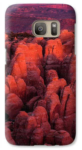 Galaxy Case featuring the photograph Fiery Furnace by Dustin LeFevre