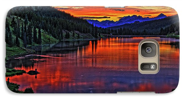 Galaxy Case featuring the photograph Fiery Lake by Scott Mahon