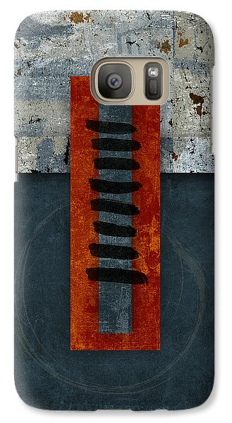 Fiery Red And Indigo One Of Two Galaxy S7 Case