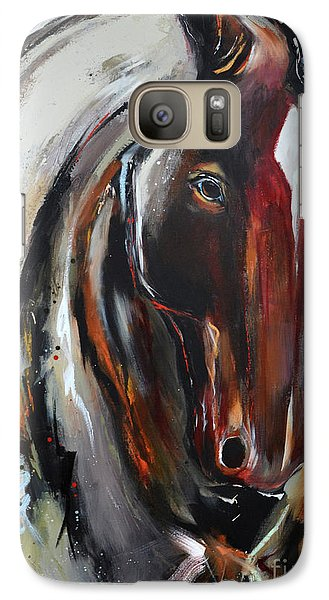 Galaxy Case featuring the painting Fiery Red Head by Cher Devereaux