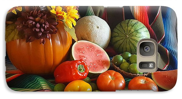 Galaxy Case featuring the painting Fiesta Fall Harvest by Marilyn Smith