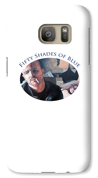 Galaxy Case featuring the painting Fifty Shades Of Blue by Tom Roderick