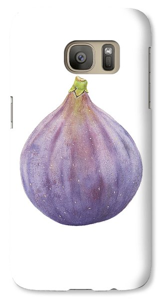 Galaxy Case featuring the painting Fig Watercolor by Taylan Apukovska