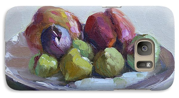 Peach Galaxy S7 Case - Figs And Peaches by Ylli Haruni