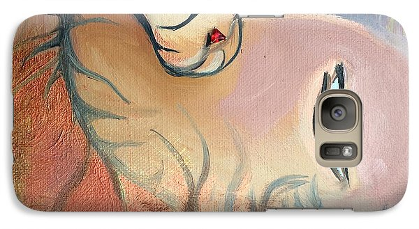 Galaxy Case featuring the painting Fille Foret 4 by Art Ina Pavelescu