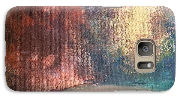 Galaxy Case featuring the painting Fille Foret 5 by Art Ina Pavelescu