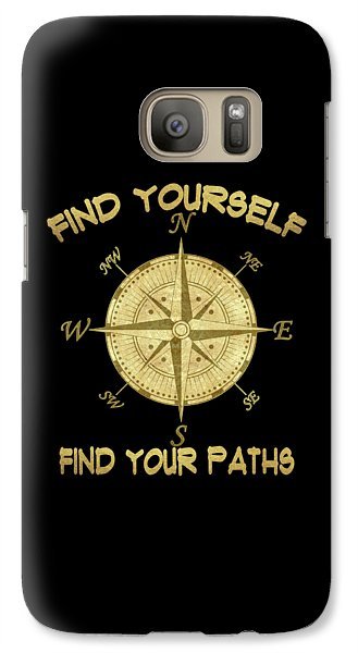 Galaxy Case featuring the painting Find Yourself Find Your Paths by Georgeta Blanaru