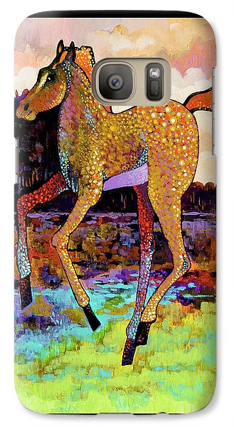 Galaxy Case featuring the painting Finding His Legs by Bob Coonts