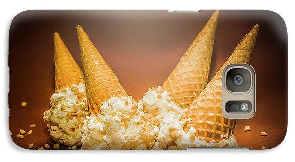 Fine Art Ice Cream Cone Spill Galaxy S7 Case by Jorgo Photography - Wall Art Gallery