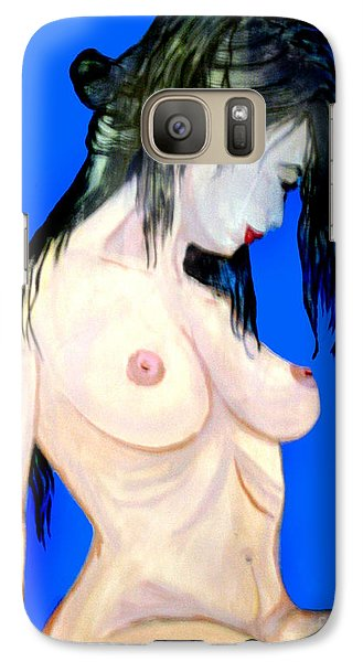 Galaxy Case featuring the painting Fine Art Nude by Tbone Oliver