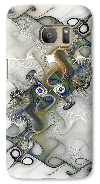 Galaxy Case featuring the digital art Fine Traces by Karin Kuhlmann