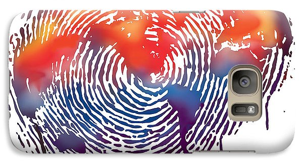 Finger Print Map Of The World Galaxy Case by Sassan Filsoof