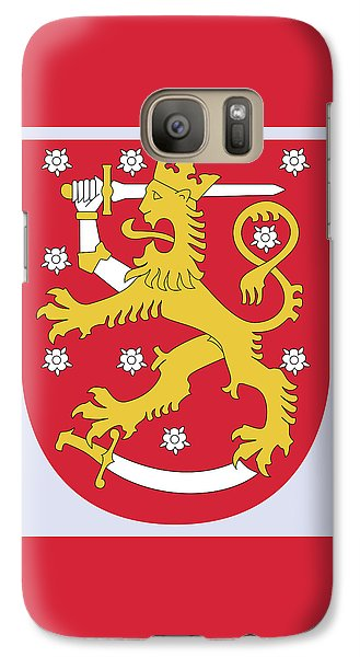 Galaxy Case featuring the drawing Finland Coat Of Arms by Movie Poster Prints