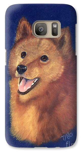 Galaxy Case featuring the painting Finnish Spitz by Terri Mills