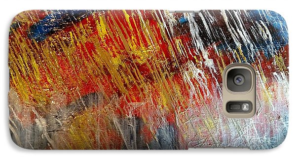 Galaxy Case featuring the painting Fire And Ice by Lori Jacobus-Crawford